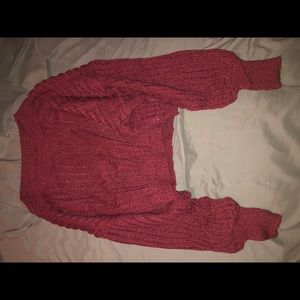 Burgundy cropped sweater|| NEVER WORN BRAND NEW